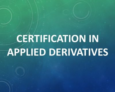 Certification in Applied Derivatives